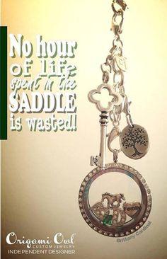 Origami Owl #HorseLover #BackintheSaddle #giddyup #horseshoes