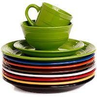 Mainstays 16-Piece Stoneware Dinnerware Set, Assorted Colors for $25.00 at Walmart.com