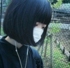 """Helmet head"" hair style isn't my preference. Cute Korean, Korean Girl, Asian Girl, Aesthetic Photo, Aesthetic Girl, Eye Color, Hair Color, Goth Beauty, Pink Eyes"