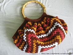 Crochet gold: The colorful bag!
