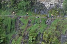 """Bike or Drive the """"Death Road"""" (Yungas), Bolivia  It is legendary for its extreme danger and in 1995 the Inter-American Development Bank christened it as the """"world's most dangerous road"""""""