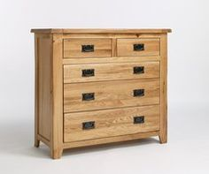 WESTBURY Reclaimed Oak 2 Over 3 Drawer Chest Of Drawers