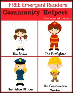 "Community Helpers Emergent Readers: free! (sight word ""I"") from The Measured Mom"