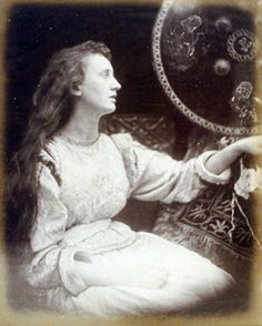 """""""Elaine the Lily Maid of Astolat"""" (Julia Margaret Cameron--Victorian photographer--inspired by Tennyson)"""