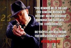 Because I was thinking of Fitch's demise & how his name rhymed with another bewitching word. #Spader #Reddington #TheBlacklist