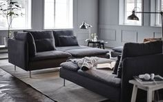 Bring more living to your living room with some of our favourite modular sofa set-ups using the SÖDERHAMN sofa.