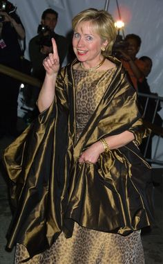 2001 HILLARY RODHAM CLINTON: This Is What The Met Gala Looked Like In The 2000s: Hillary Rodham Clinton.