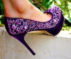 Purple & Glittery!