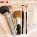 How To Clean Your Makeup Brushes RevisitedOne Good Thing by Jillee | One Good Thing by Jillee