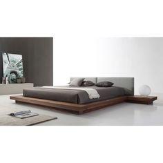 White Platform Bed, Modern Platform Bed, Platform Beds, Japanese Platform Bed, Platform Bed Designs, Contemporary Bedroom, Modern Bedroom, Modern Furniture, Furniture Design