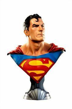 DC Comics Superman Life Size Bust by Sideshow Collectibles Man of Steel Evil Superman, Comic Superman, Superman Love, Superman Man Of Steel, Batman, Superman Artwork, Supergirl Superman, Superman Stuff, Dc Comics