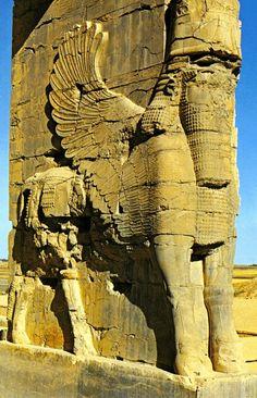 Representação de touro androcéfalo gigante, Arte persa, Persépolis.