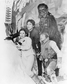 Princess Leia, Han Solo, Luke Skywalker and Chewbacca from Star Wars: The Empire Strikes Back