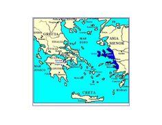 En esta fotografía, un radiante color azul oscuro nos sitúa en el mapa ante Asia Menor, otro de los territorios que componían la región Hélade.Este territorio también era conocido como la Región de Jonia, formada por la actual costa de Turquía que recogía en ella las polis de Mileto y Efeso.