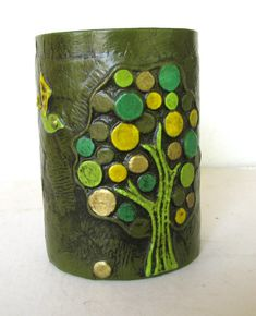 Vintage Fitz Floyd Papier Mache Pen Holder, Mid Century on Etsy, £14.99