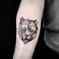 sketch bear tattoo