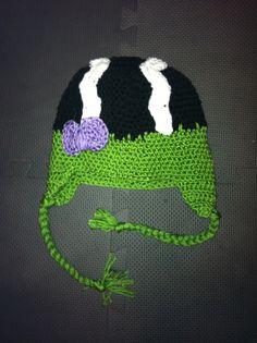 bride of frankenstein crochet hat