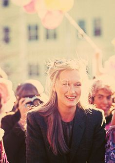 True blue natural beauty. I wish there was more of this around in this age. Meryl Streep
