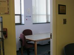This was formerly an office and is now used as a quiet room, meeting room, and passport application room.  This library became a Passport Application Acceptance Agency in May of 2011.  This is the only truly quiet space we have to offer patrons.