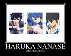 Haruka Nanase. Im not sure how i feel about this it makes seance but i ship haruka and juvia  so im not sure if i like this or hate it.