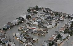 tropical storm Sandy Oct 29. 2012 AMAZING PHOTOS - Water, water everywhere: An aerial view of flooding on the bay side of Seaside, New Jersey
