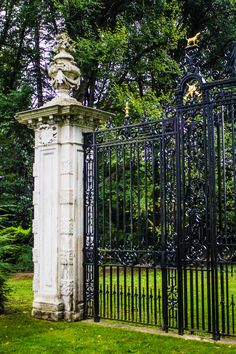 Section of front gate at  Old Westbury Gardens, Old Westbury, NY (09/04/2015)