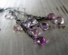 Purple Sapphire Necklace Gemstone Lariat by HotRoxCustomJewelry, $148.00
