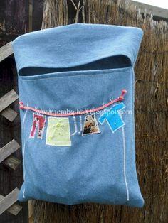 Appliqued Clothes Pin Bag Sewing Tutorial
