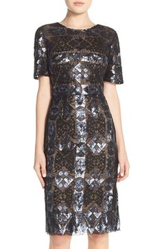 31ad5d13ac69 BCBGMAXAZRIA 'Samara' Sequin Lace Sheath Dress available at #Nordstrom Lace  Sheath Dress,