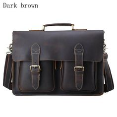 Cheap leather briefcase, Buy Quality briefcase vintage directly from China  crazy horse leather briefcase Suppliers  Top Grade Handmade Mens Real Crazy  Horse ... 2359aa9945