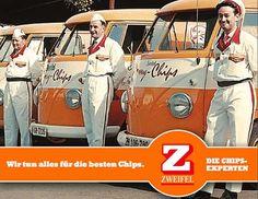 Zweifel Chips VW bus Vw Bus, Vw Camper, Vw Pickup, T1 T2, Volkswagen Beetles, Wheels On The Bus, Thing 1, Cover Pics, Campervan
