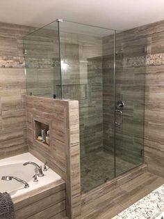 15 wonderful diy master bathroom ideas remodel on a budget 12 ~ Home And Garden Master Bathroom Shower, Bathroom Renos, Small Bathroom, Bathroom Showers, Bathroom Ideas, Bathroom Styling, Bathroom Fixtures, Bathroom Remodeling, Bathroom Canvas