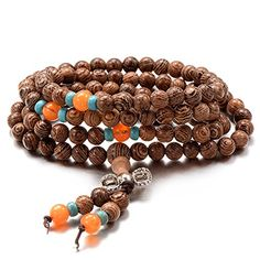 Unistyle Brown Wood Bracelet Link 6mm Tibetan Beads Buddhist Prayer Mala Necklace Chain >>> Continue to the product at the image link. (This is an affiliate link) #WomenBracelets