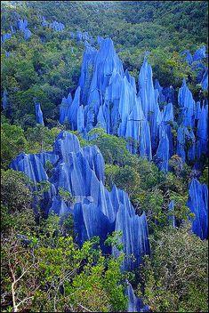 The Pennacle Mulu National Park Boneo Malasia.