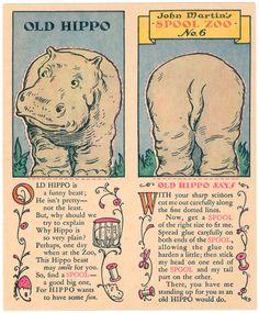 John Martin's Spool Zoo--hippo