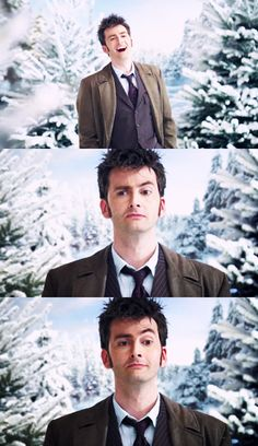 David Tennant, Doctor Who --- He does the best expressions....