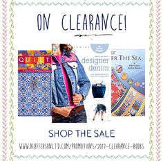 We've put a ton of great books from your favorite brands on clearance. Take advantage! Denim Shop, Great Books, Promotion, Quilting, Crafting, Sewing, Crochet, Shopping, Dressmaking