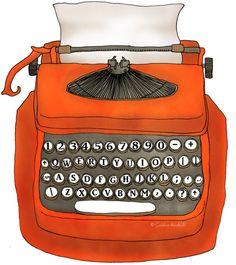 typewriter, orange, laranja, color, cor, ilha da beleza