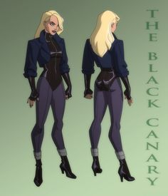 Black Canary Young Justice | JUSTICE LEAGUE: CRISIS ON TWO EARTHS: BLACK CANARY by Jerome-K-Moore