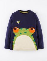 Big Appliqué T-shirt (Cadet Blue Frog)