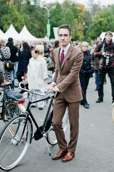 Bike and man.