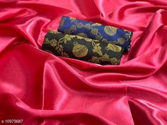 Checkout this latest Sarees Product Name: *Heavy satin silk saree with combo of 2 blouse piece saree for women* Saree Fabric: Satin Silk Blouse: Separate Blouse Piece Blouse Fabric: Banarasi Silk Pattern: Solid Blouse Pattern: Jacquard Multipack: Single Sizes:  Free Size (Saree Length Size: 5.5 m, Blouse Length Size: 0.8 m)  Country of Origin: India Easy Returns Available In Case Of Any Issue   Catalog Rating: ★4 (387)  Catalog Name: Chitrarekha Fabulous Sarees CatalogID_2032590 C74-SC1004 Code: 363-10973687-468