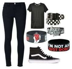 """""""Untitled #65"""" by edithisonfire on Polyvore featuring Frame Denim, Obesity and Speed and Vans"""
