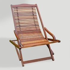 One of my favorite discoveries at WorldMarket.com: Patio Folding Chaise Lounge