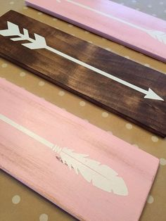 Tribal Arrow Nursery Signs Modern Rustic by LittleNickyDesigns