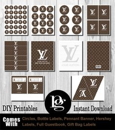 Louis Vuitton Party Louis Vuitton Printable by PlatinumGraphics