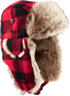 Plaid hat for those apres ski occasions.