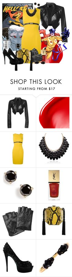 """""""Hellcat"""" by nitas-corner ❤ liked on Polyvore featuring Leka, NARS Cosmetics, Versace, Adoriana, Kate Spade, Yves Saint Laurent, Karl Lagerfeld and Alessandra Rich"""