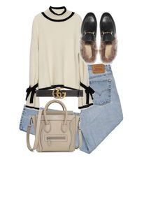 """""""Untitled #5177"""" by theeuropeancloset on Polyvore featuring Levi's and Gucci"""