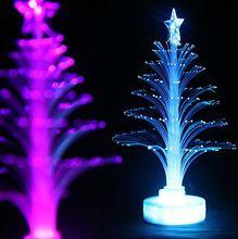 3008d8278658 12cm Vianočný strom s optickými vláknami svetlo farebné svetlo emitujúca  kvety trojrozmerné vianočný strom dekorácie darček